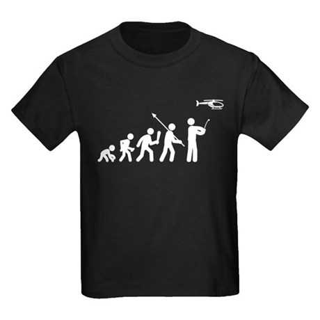 RC Helicopter Kids Dark T-Shirt