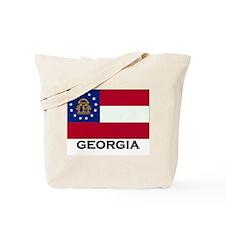 Georgia Flag Stuff Tote Bag