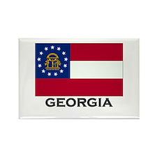 Georgia Flag Stuff Rectangle Magnet