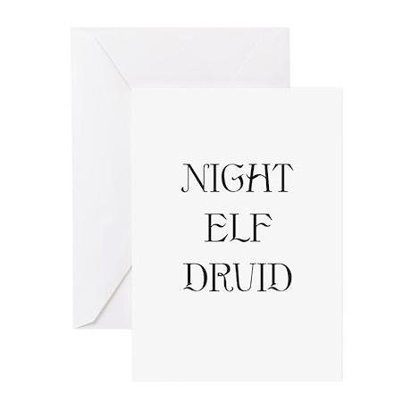 Night Elf Druid Greeting Cards (Pk of 10)