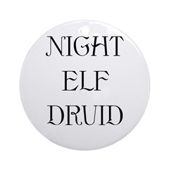 Night Elf Druid Ornament (Round)