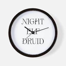 Night Elf Druid Wall Clock