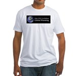Only YOU Can Reduce Global Wa Fitted T-Shirt