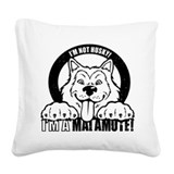 Alaskan malamute Square Canvas Pillows