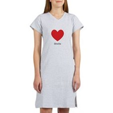 Sheila Big Heart Women's Nightshirt