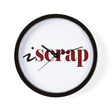 """I """"Scrap"""" Wall Clock"""