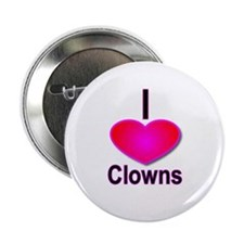 I Love Clowns Button