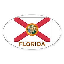 Florida Flag Gear Oval Decal