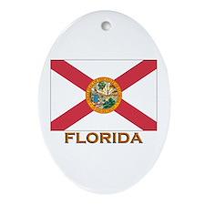 Florida Flag Gear Oval Ornament