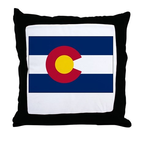Colorado Flag Picture Throw Pillow