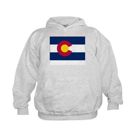 Colorado Flag Picture Kids Hoodie