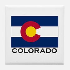 Colorado Flag Stuff Tile Coaster