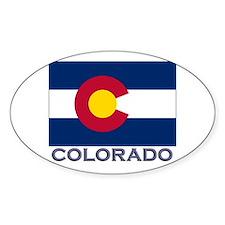 Colorado Flag Gear Oval Bumper Stickers
