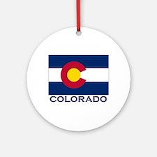 Colorado Flag Gear Ornament (Round)