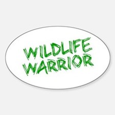 """Wildlife Warrior"" Oval Decal"