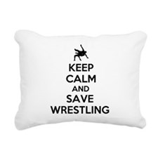 Keep Calm and Save Wrestling Rectangular Canvas Pi