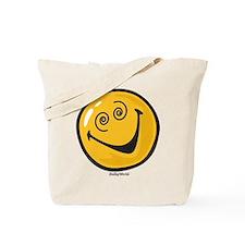 crazy smiley Tote Bag