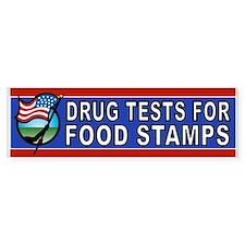 DRUGS FOOD STAMPS Bumper Car Sticker