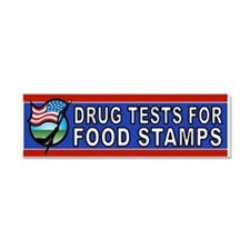 DRUGS FOOD STAMPS Car Magnet 10 x 3