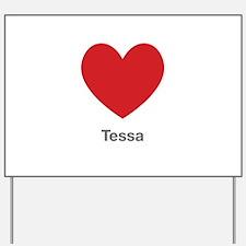 Tessa Big Heart Yard Sign