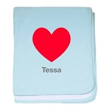 Tessa Big Heart baby blanket