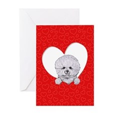 Bichon in Heart Greeting Card