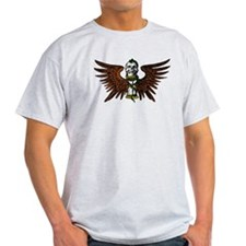 Vintage line art image, Skull wings 336 T-Shirt