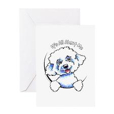 Bichon Frise IAAM Greeting Card
