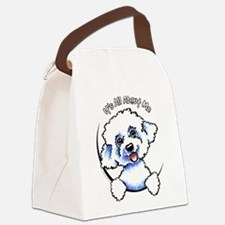 Bichon Frise IAAM Canvas Lunch Bag