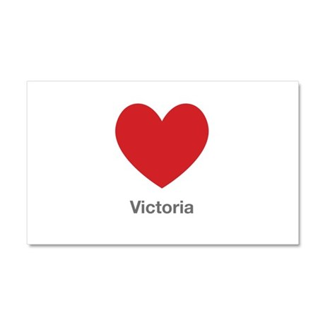 Victoria Big Heart Car Magnet 20 x 12