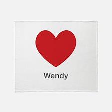 Wendy Big Heart Throw Blanket