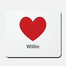 Willie Big Heart Mousepad