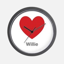 Willie Big Heart Wall Clock