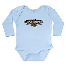 Cute Wurms Long Sleeve Infant Bodysuit