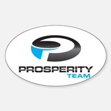 Prosperity Team White or Clear Oval Decal