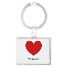 Yesenia Big Heart Landscape Keychain