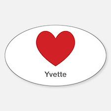 Yvette Big Heart Decal