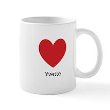 Yvette Big Heart Mug