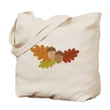 Acorn Leaves Tote Bag
