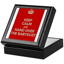 Keep Calm and Hand over the Babydust Keepsake Box