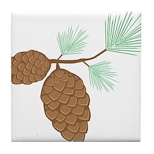 Pine Cone Tile Coaster