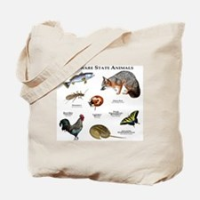 Delaware State Animals Tote Bag