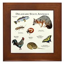 Delaware State Animals Framed Tile