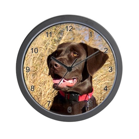 Oct Lab of the Month Wall Clock