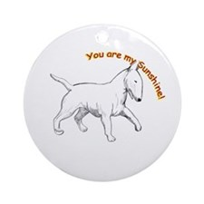 Bull Terrier Ornament (Round)