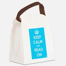 Keep Calm and Read On Canvas Lunch Bag