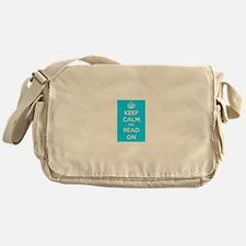 Keep Calm and Read On Messenger Bag