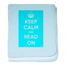 Keep Calm and Read On baby blanket