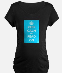 Keep Calm and Read On Maternity T-Shirt