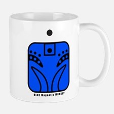 BLUE Magnetic MONKEY Mug
